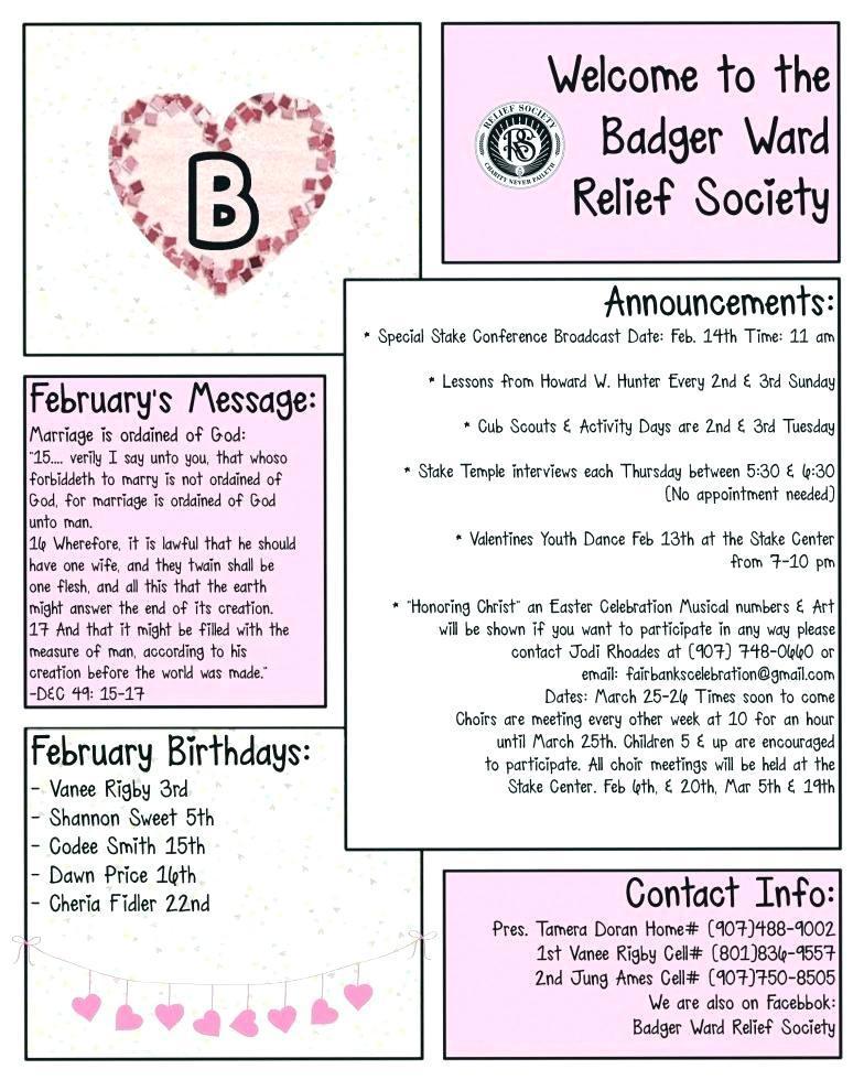 February Kindergarten Newsletter Template