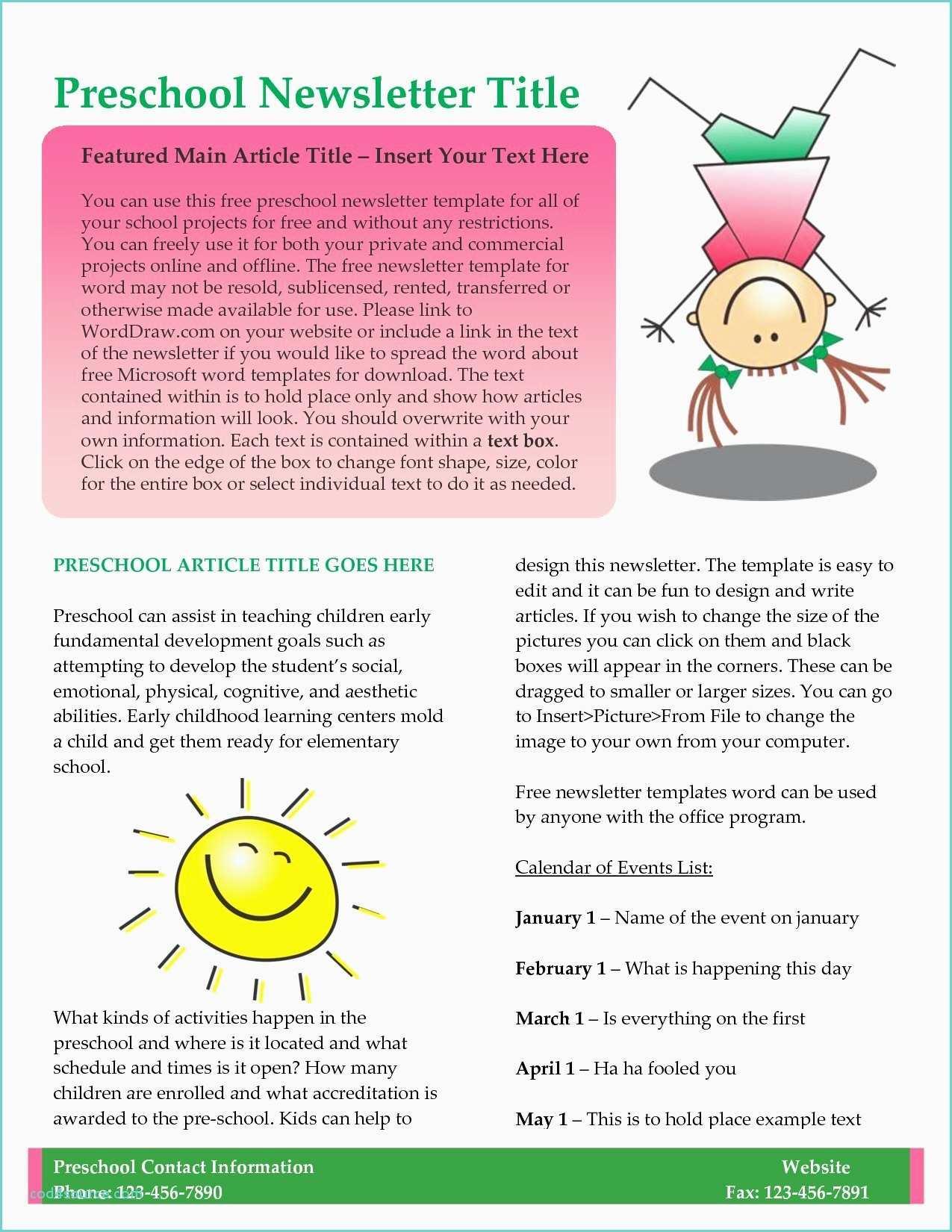 February Newsletter Template For Teachers