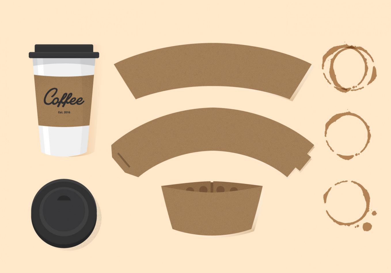 Felt Coffee Sleeve Template