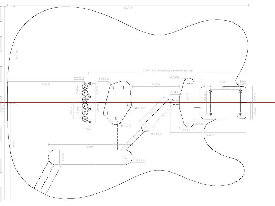 Fender Neck Template
