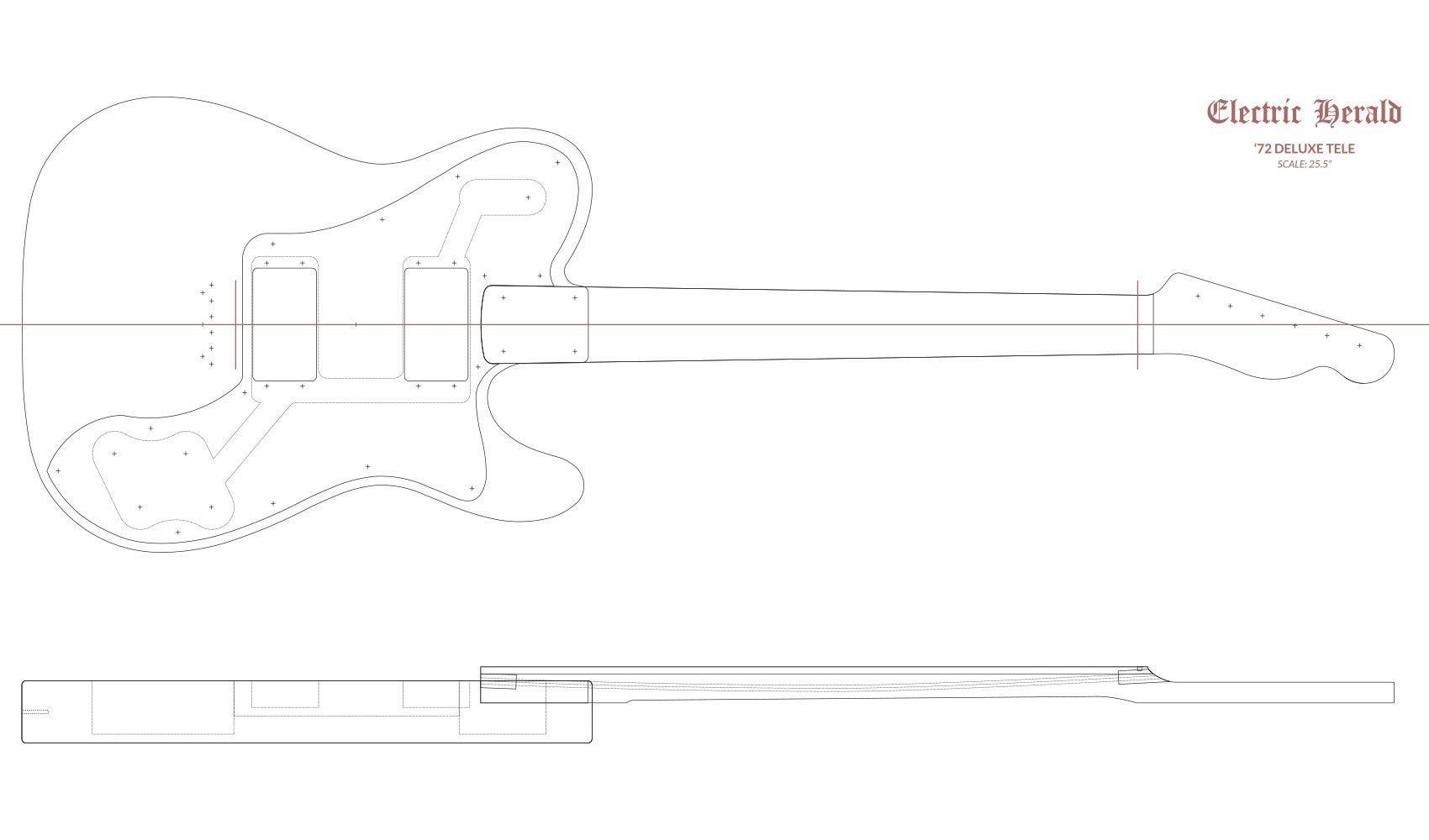 Fender Strat Router Template