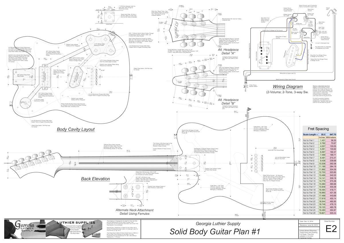 Fender Telecaster Neck Template Pdf