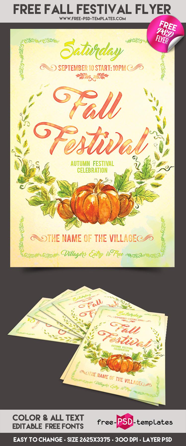 Festival Flyer Templates Free