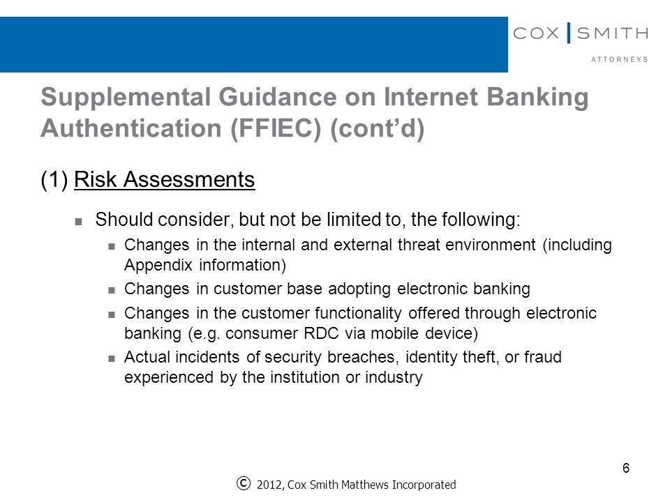 Ffiec Internet Banking Risk Assessment Template