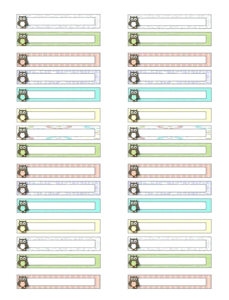 File Folder Labels Template Excel