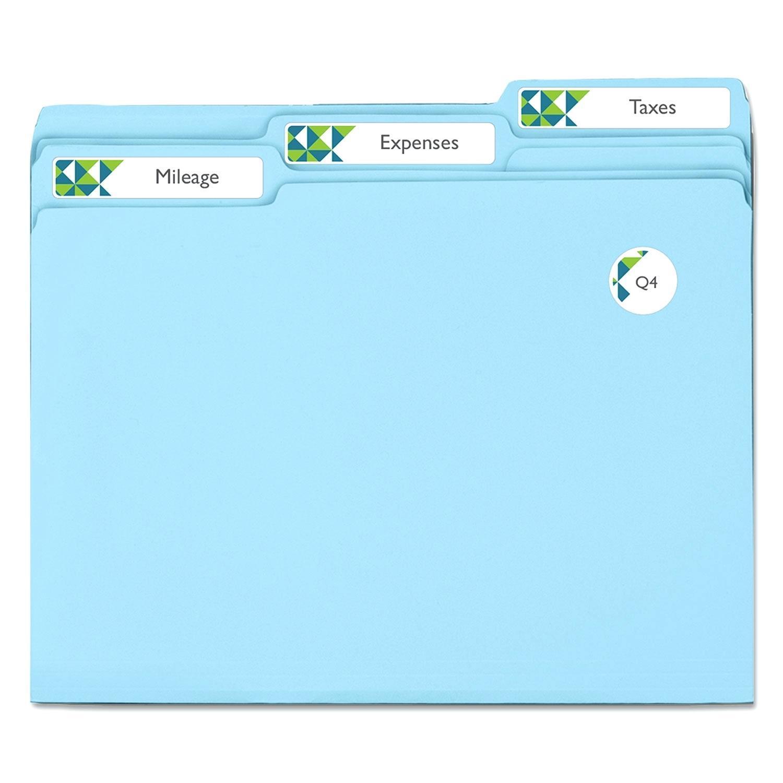 File Folder Tab Inserts Template