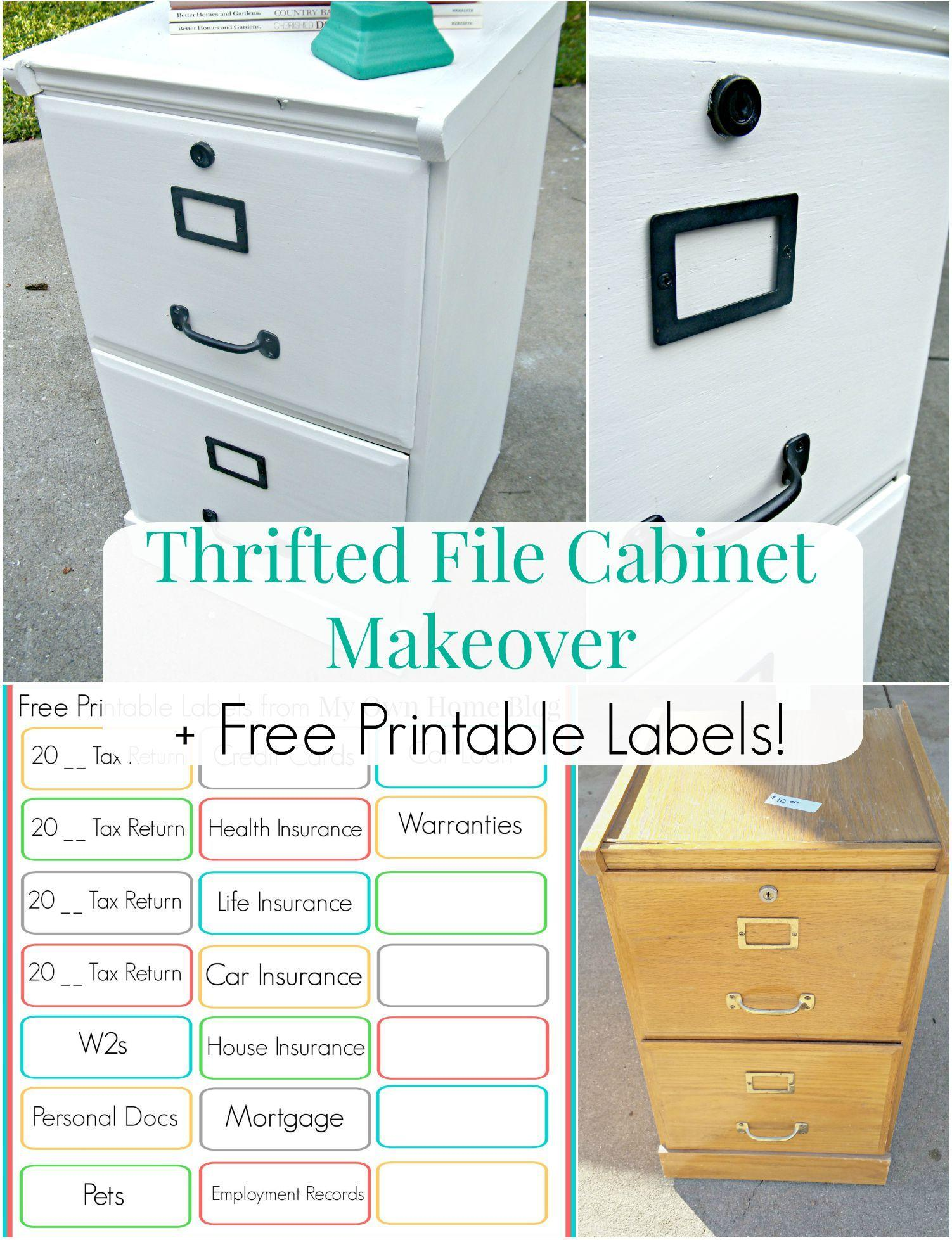 Filing Cabinet Labels Template