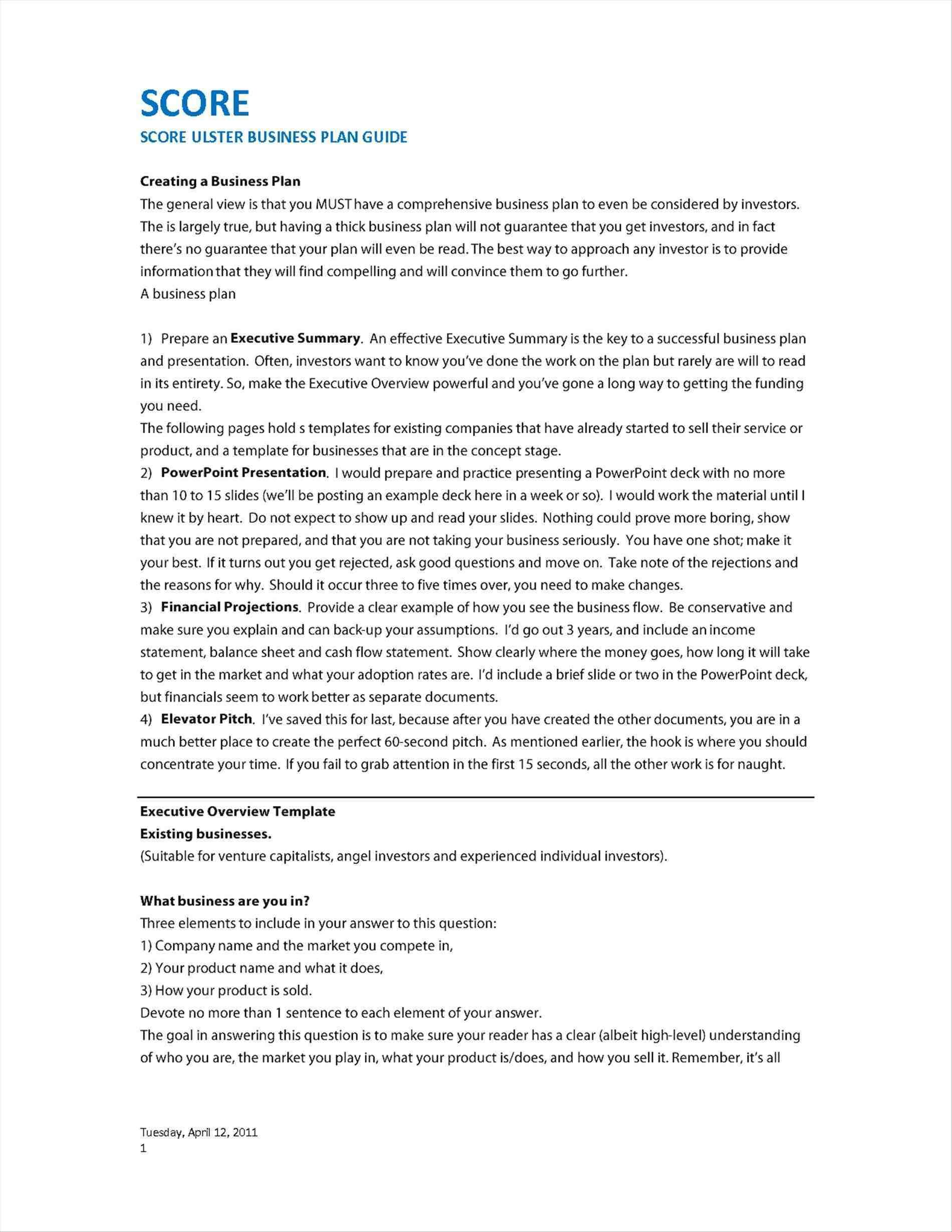 Film Business Plan Template Free
