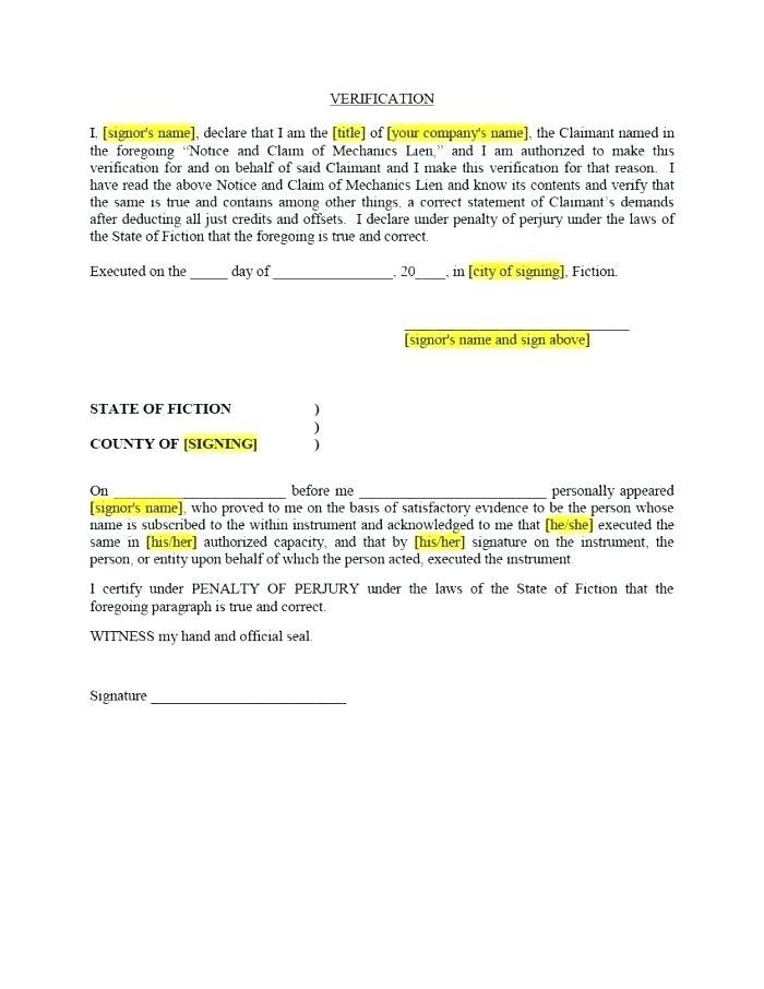 Final Lien Waiver Example