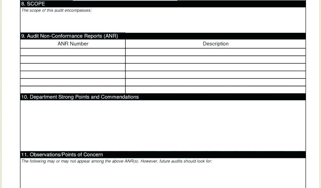 Finance Audit Checklist Template