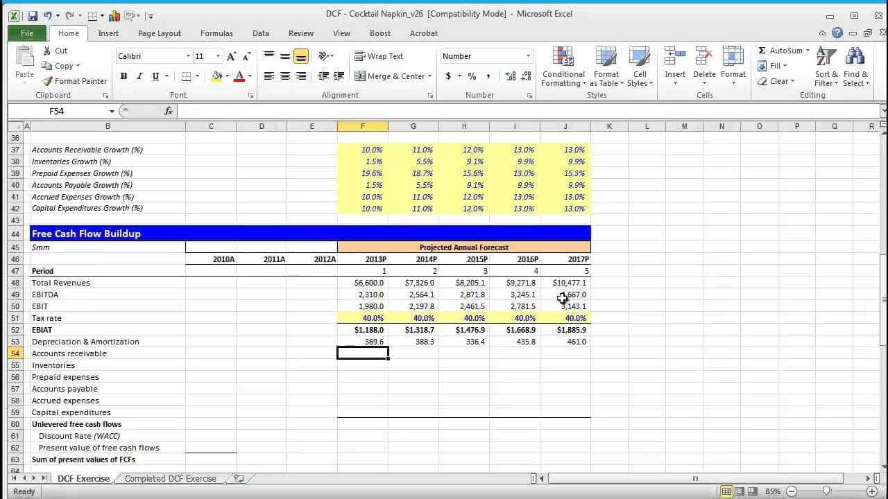 Financial Modeling Using Excel Templates