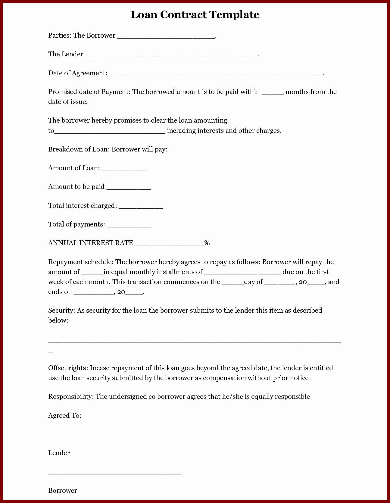 Financing Term Sheet Template