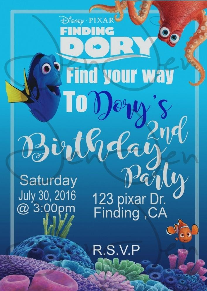 Finding Nemo Birthday Invitation Wording