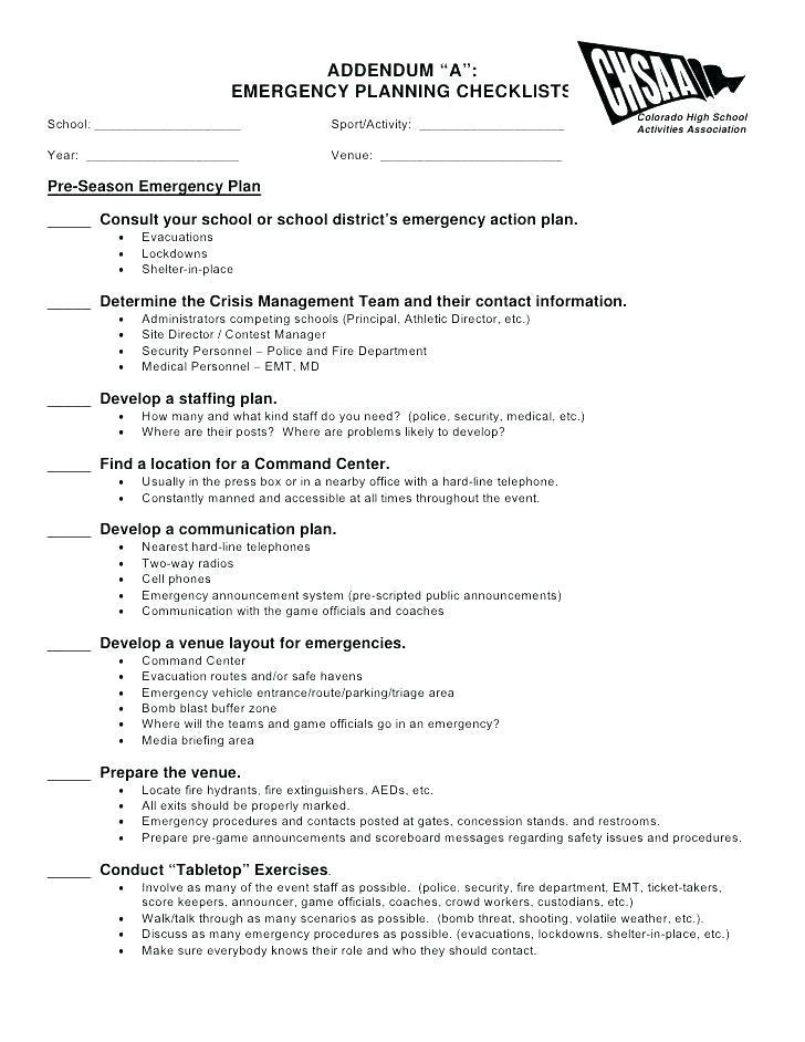 Fire Emergency Action Plan Example