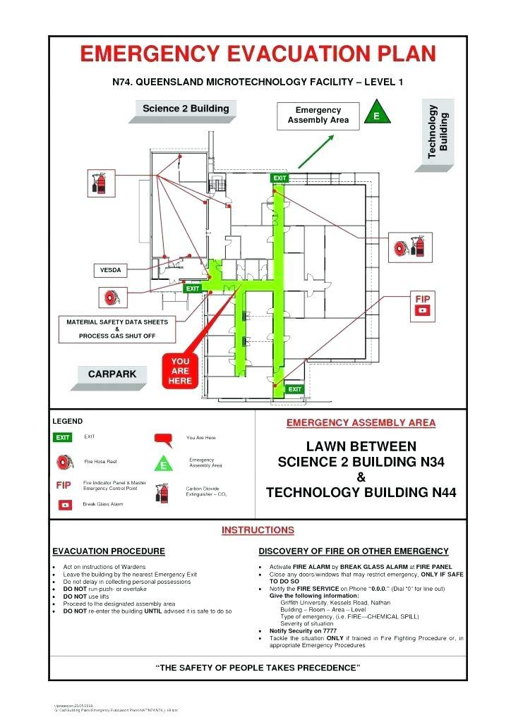Fire Emergency Evacuation Plan Template Uk