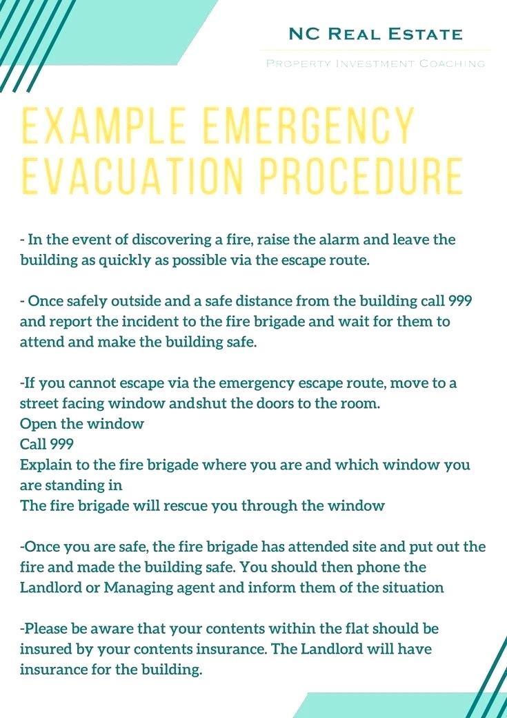 Fire Emergency Plan Template Uk