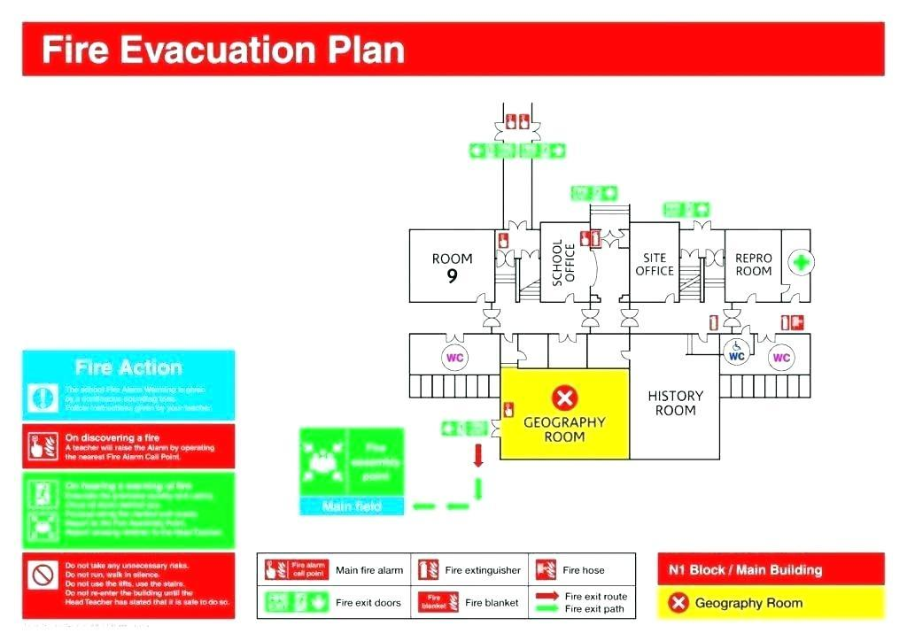 Fire Evacuation Map Template