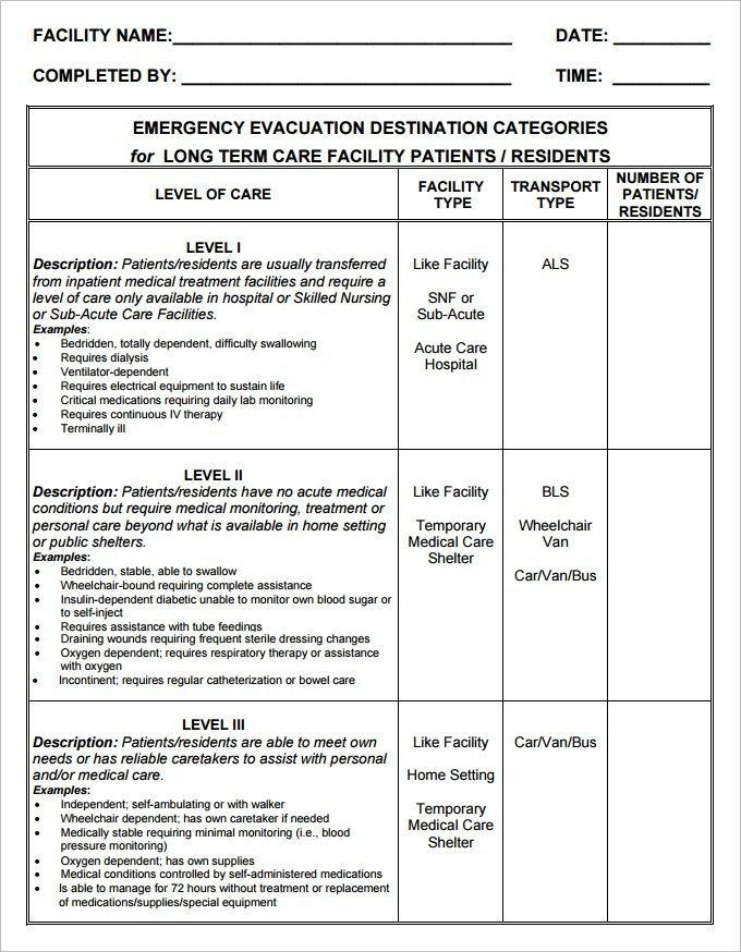 Fire Evacuation Plan Template Doc