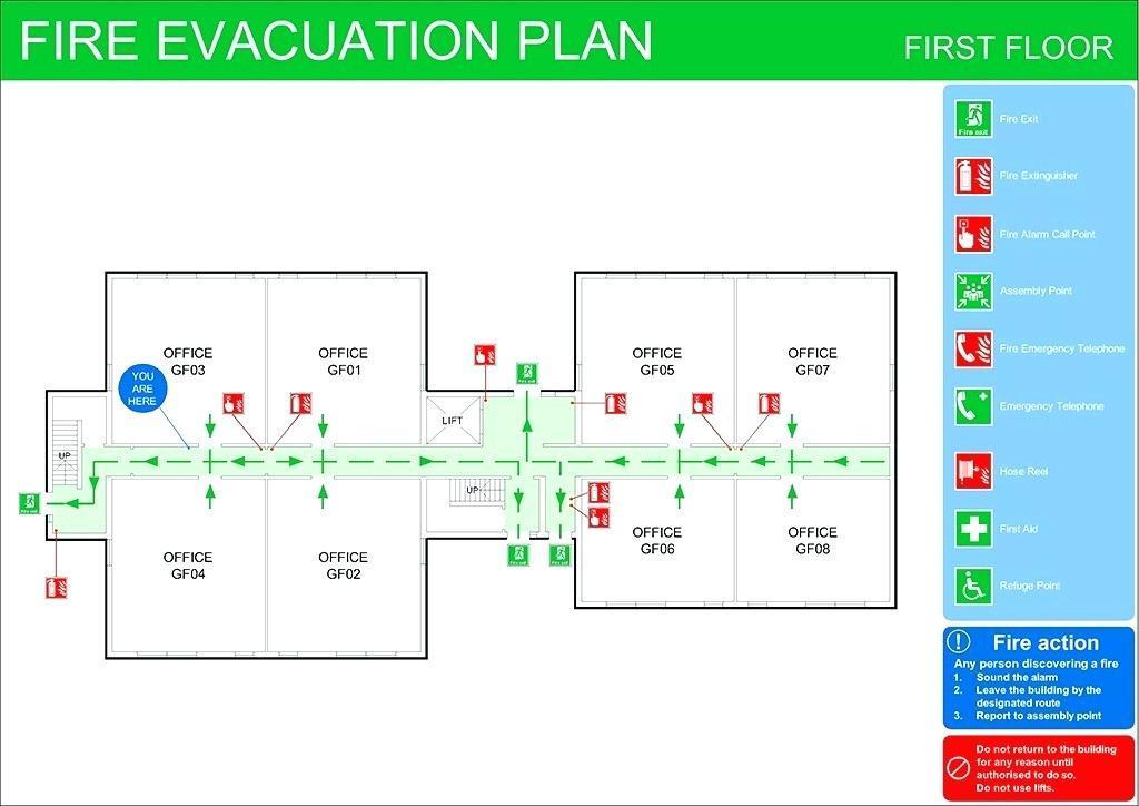 Fire Evacuation Plan Template Free Uk