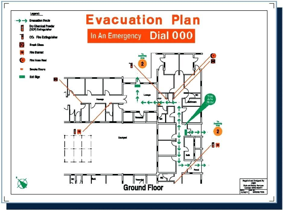 Fire Evacuation Plan Template Qld