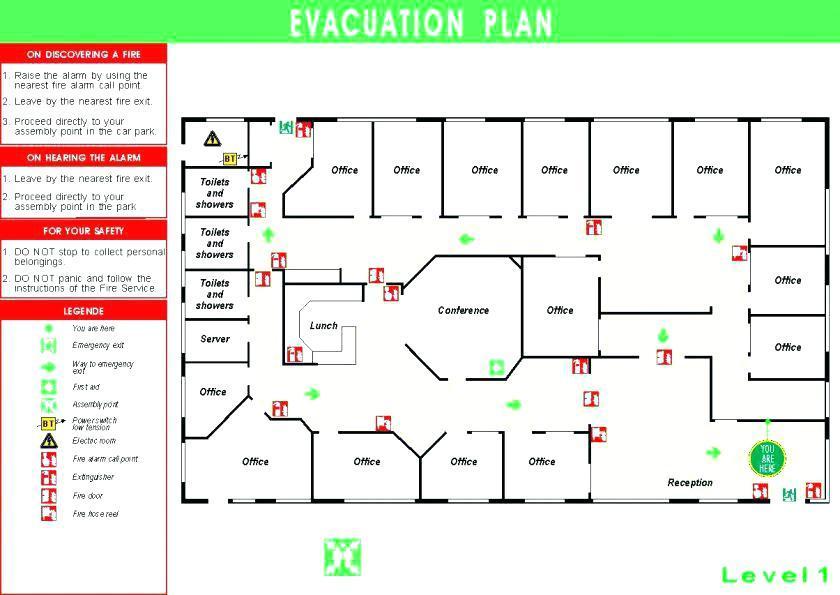 Fire Exit Floor Plan Sample