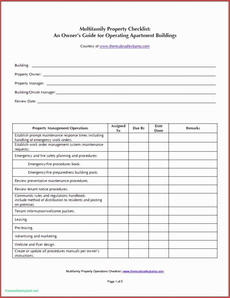 Fire Safety Checklist Template