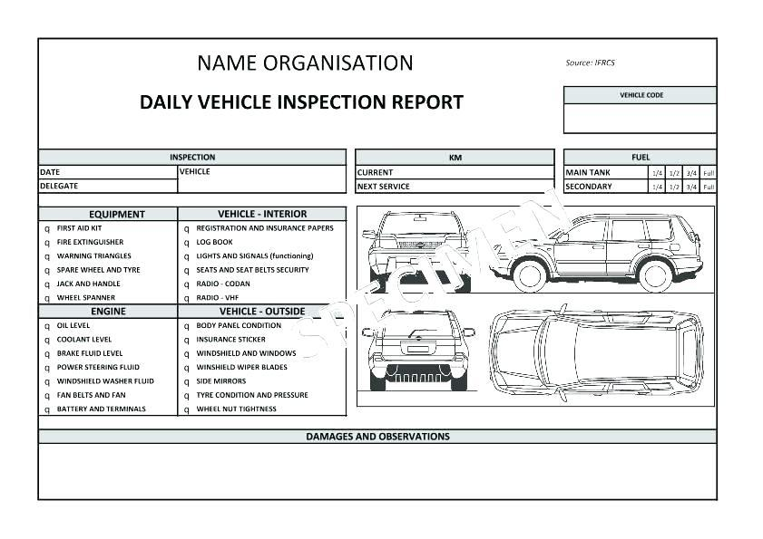 Fire Truck Inventory Checklist Template