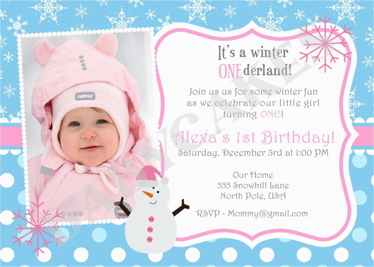 First Birthday Party Invitation Wording Samples