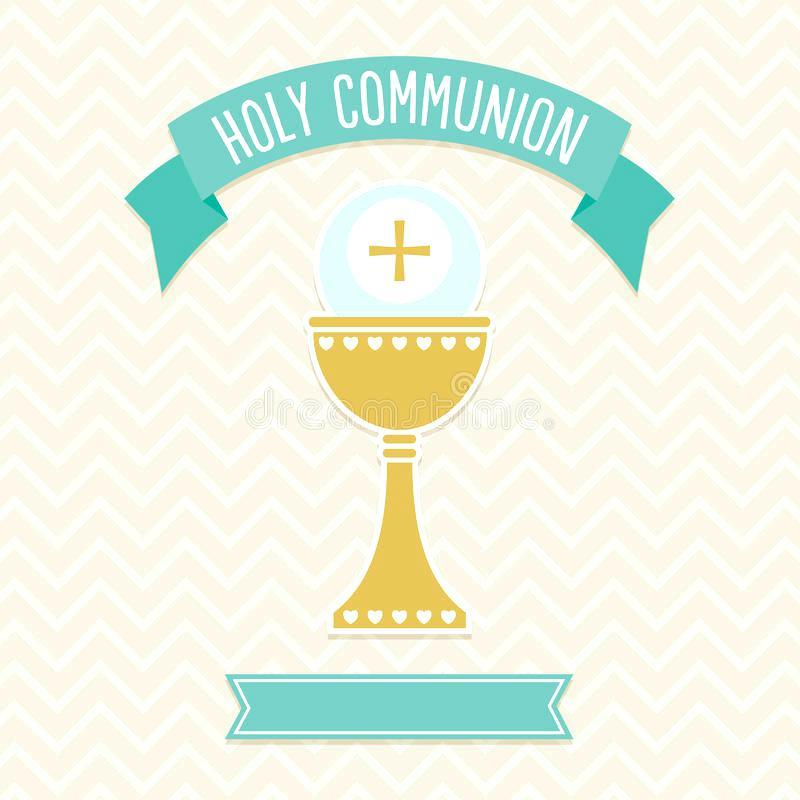 First Communion Invitation Card Template