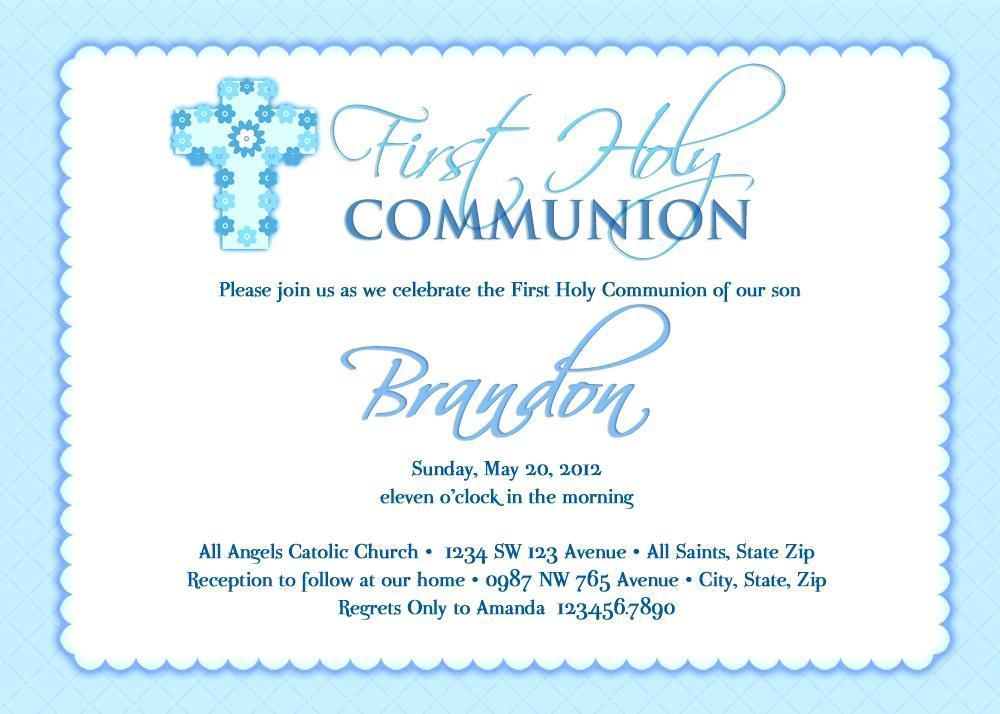 First Communion Invitation Maker