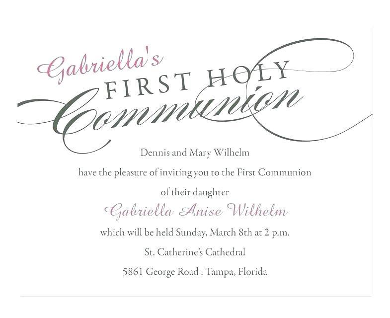 First Holy Communion Invitation Designs