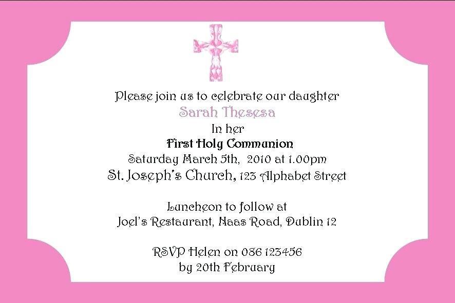 First Holy Communion Invitation Maker