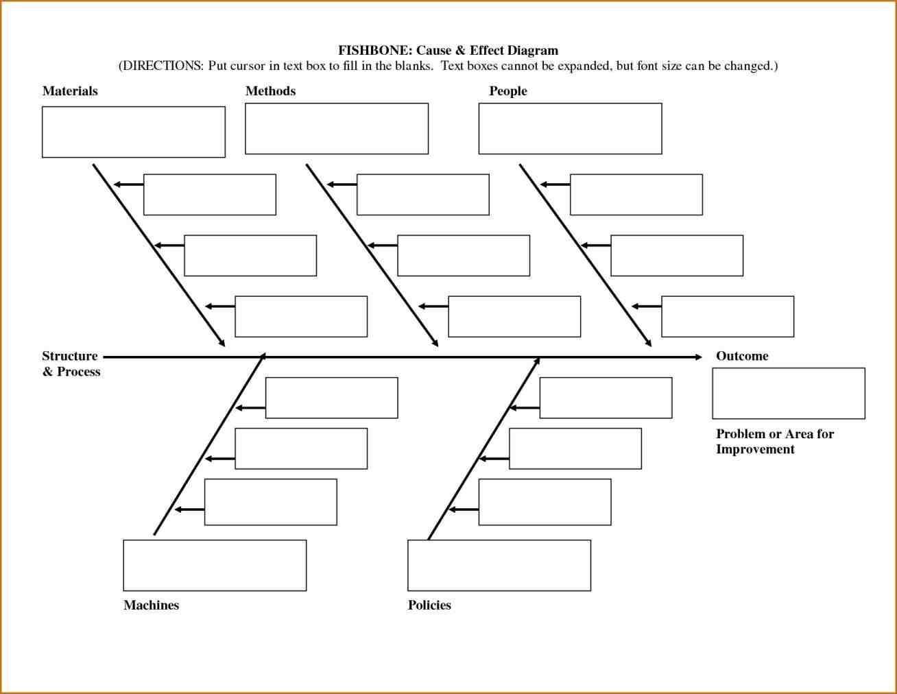 Fishbone Diagram Template Download Free