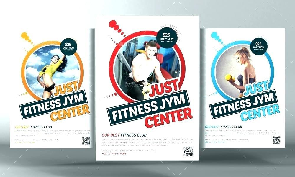 Fitness Center Brochure Templates