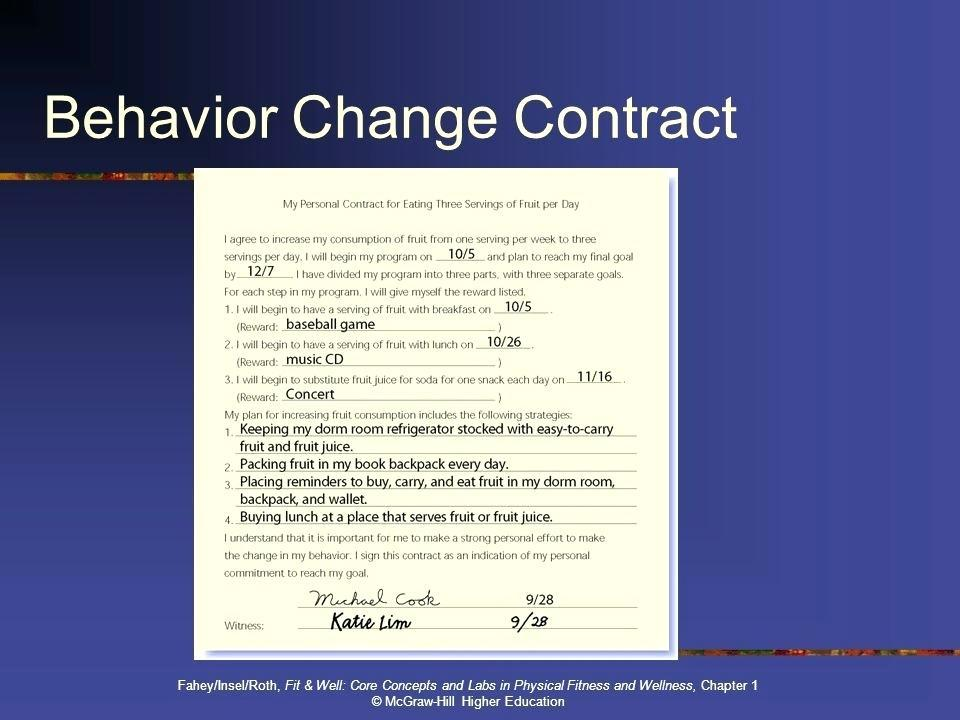 Fitness Contract Example