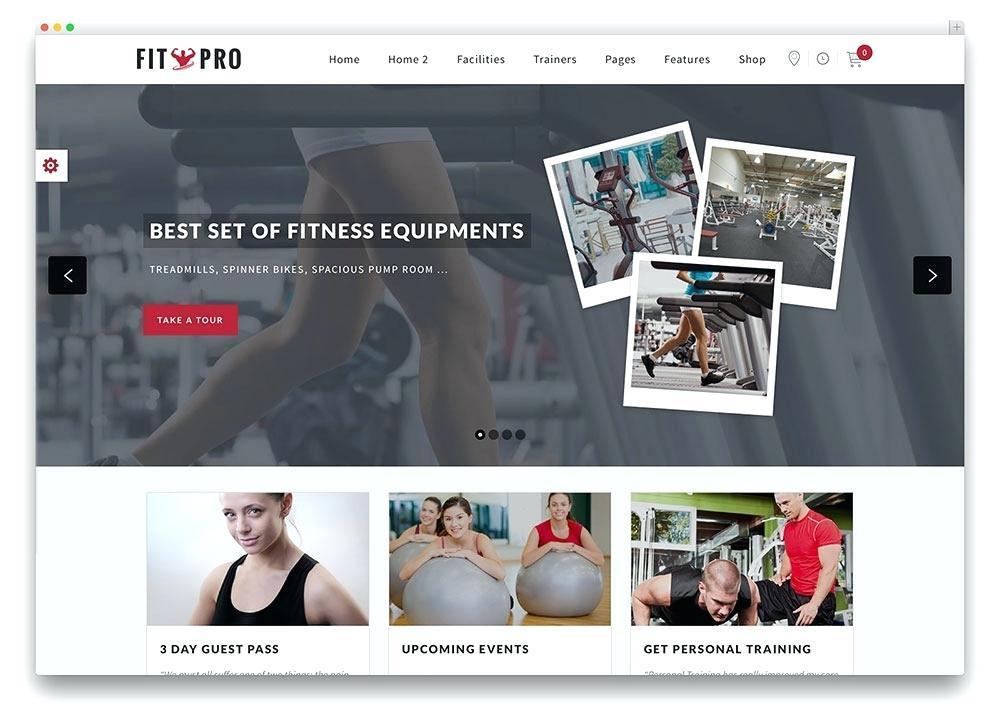 Fitness Trainer Website Templates Free
