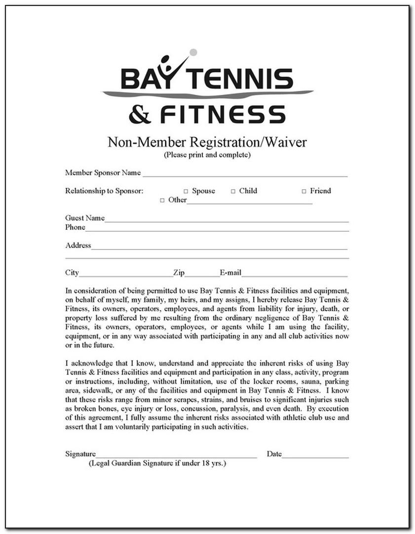 Fitness Waiver And Release Form Template Australia