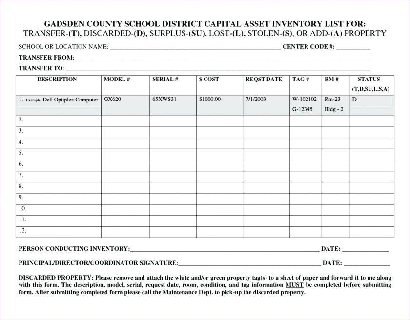 Fixed Asset Register Excel Template Free