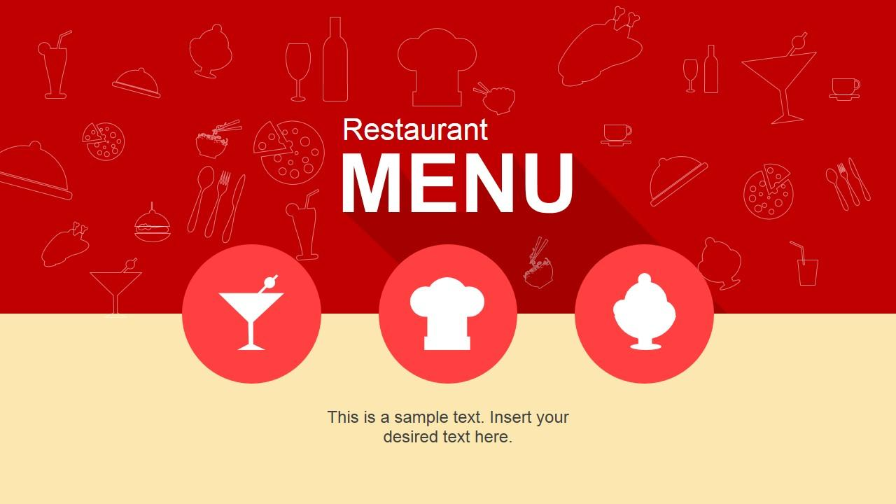 Flat Restaurant Menu Powerpoint Template