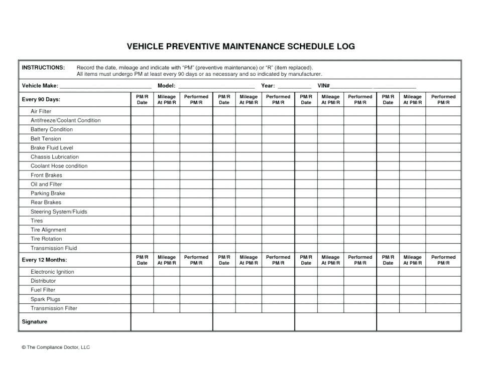 Fleet Maintenance Program Template