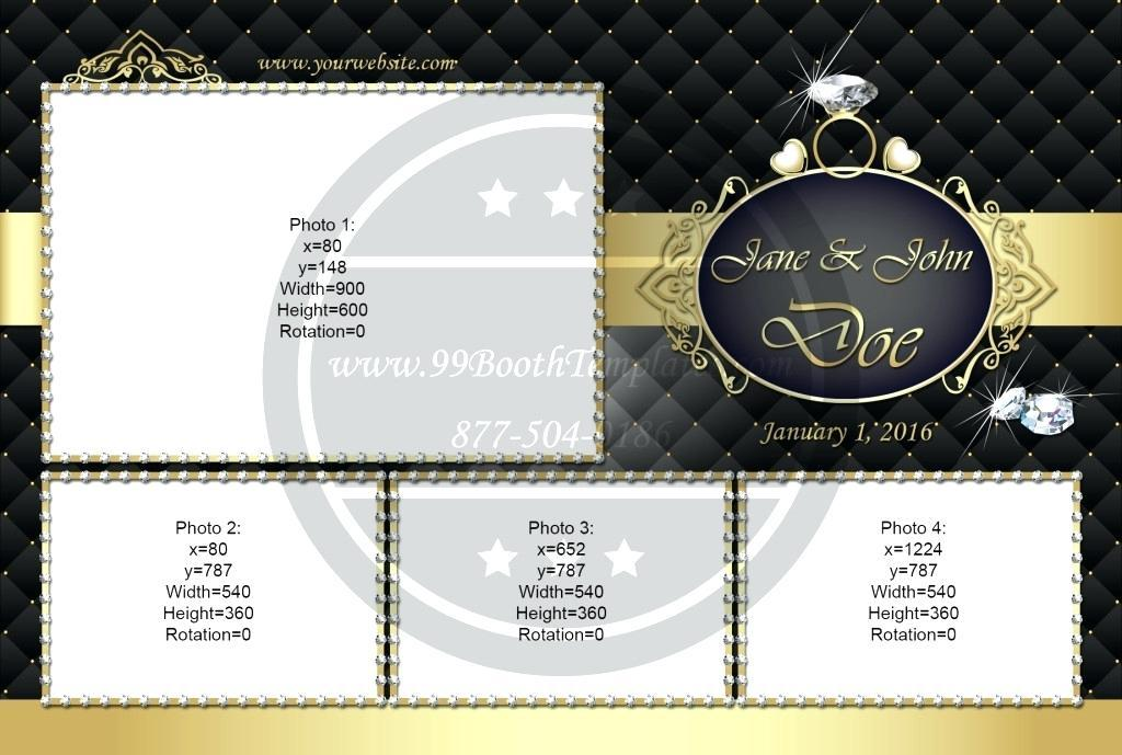 Floral Photo Booth Strip Template