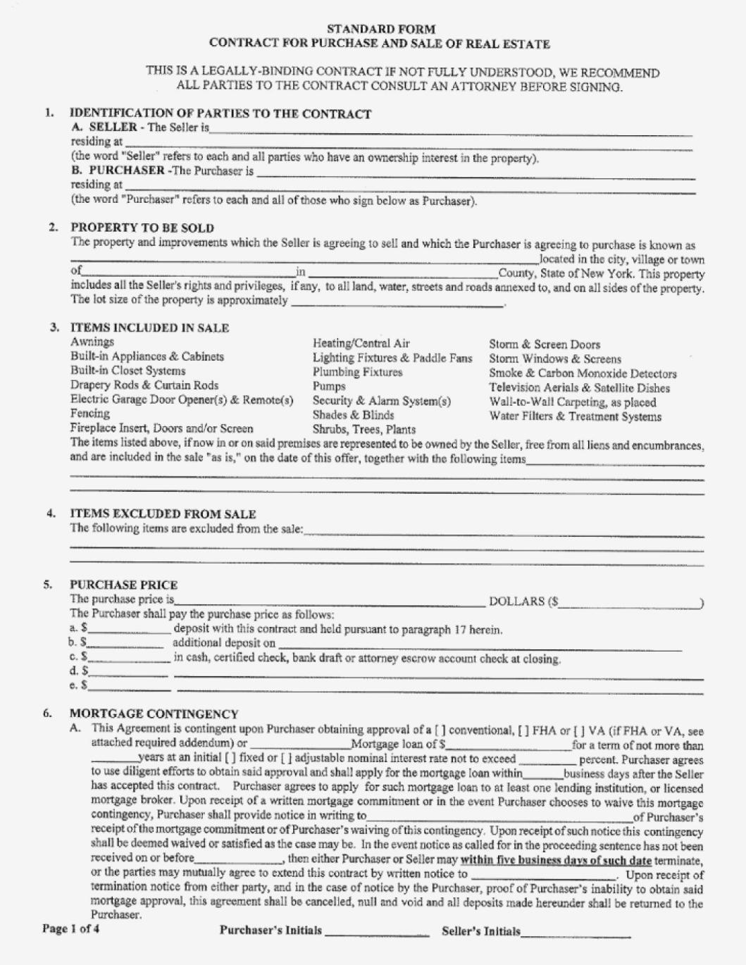 Florida Real Estate Purchase Offer Form