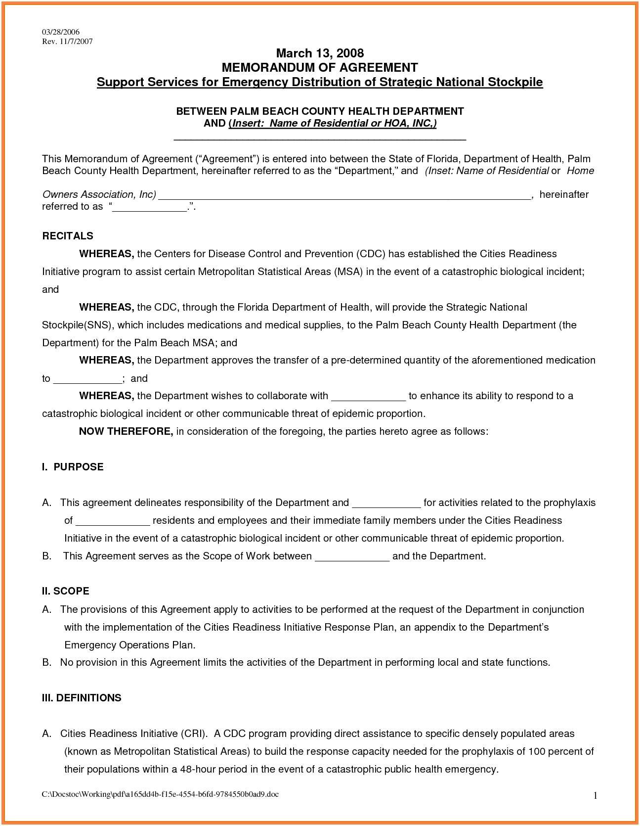 Florida Rental Lease Agreement Word Document
