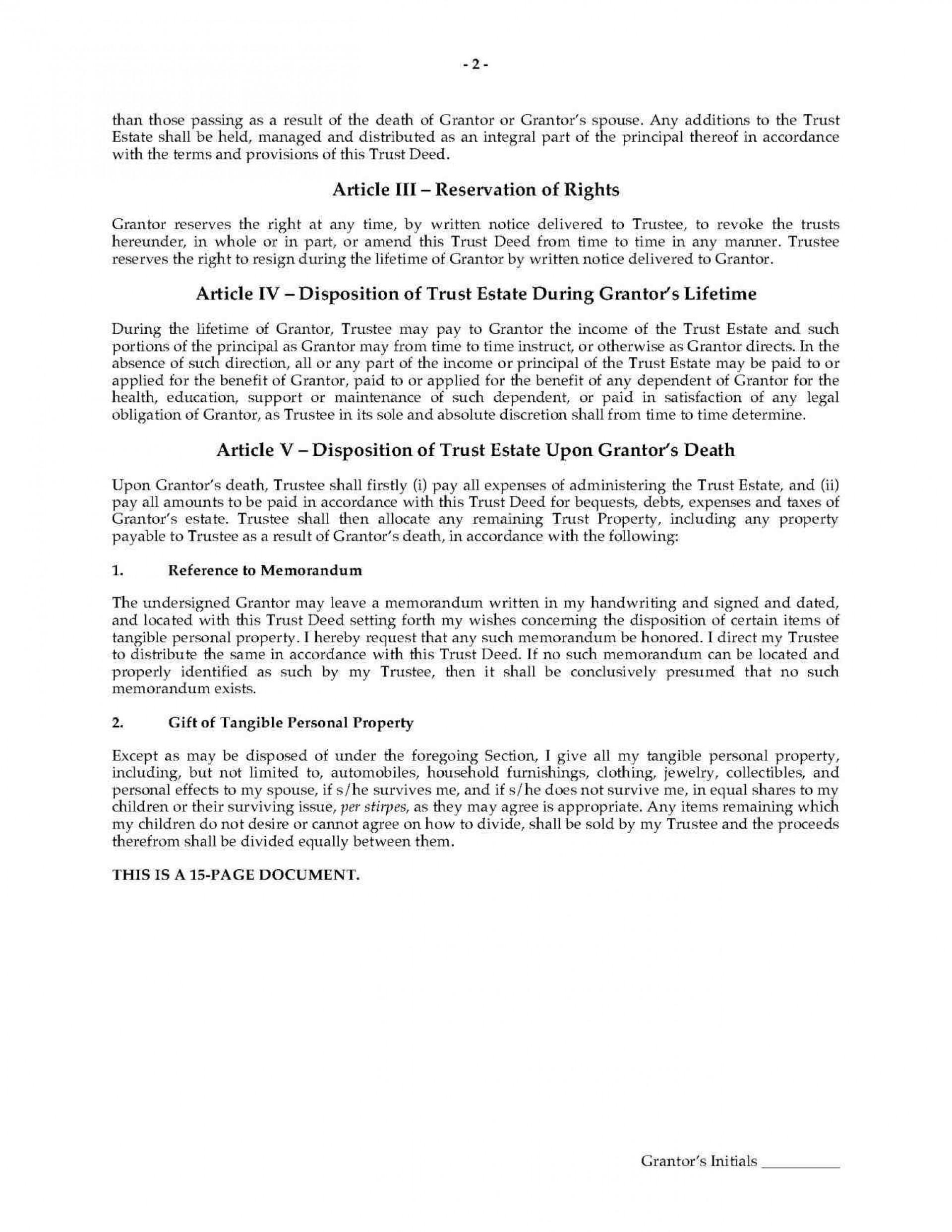 Florida Revocable Living Trust Template