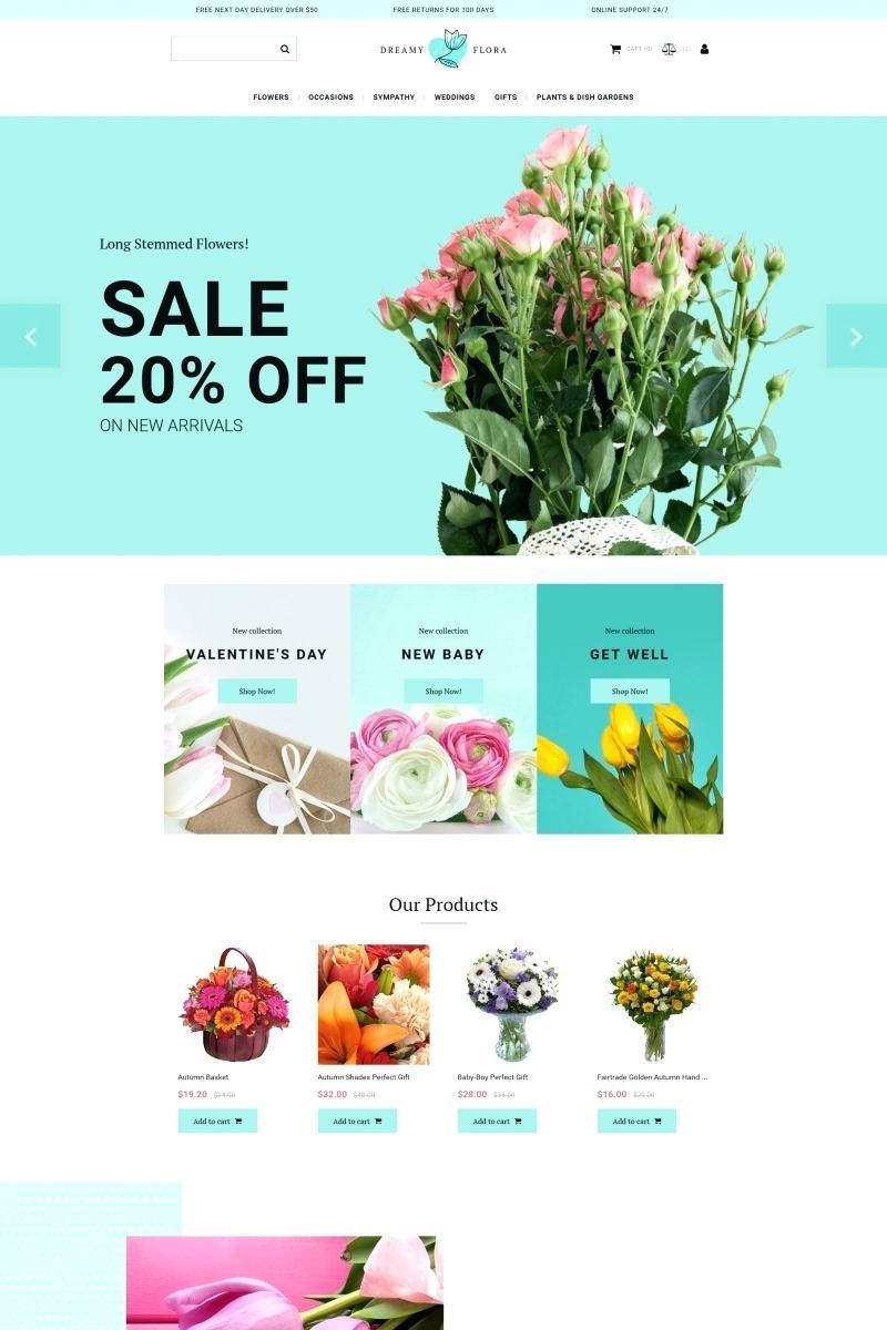 Florist Ecommerce Website Template