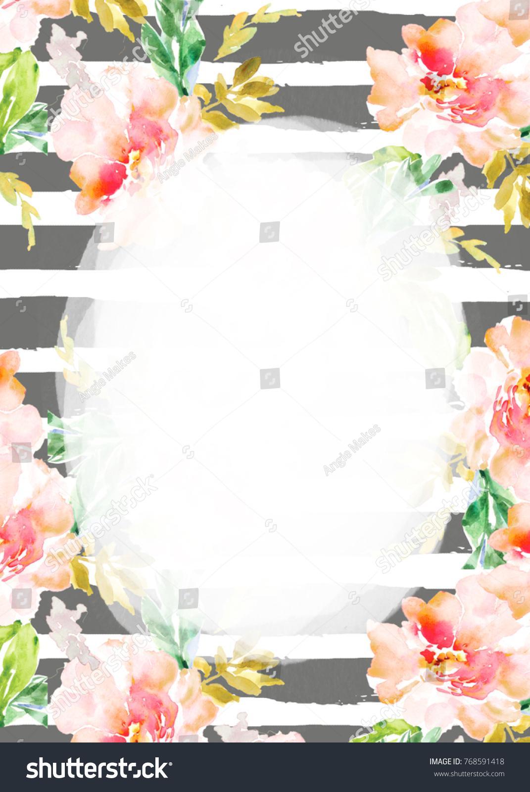 Flower Invitation Template Blank
