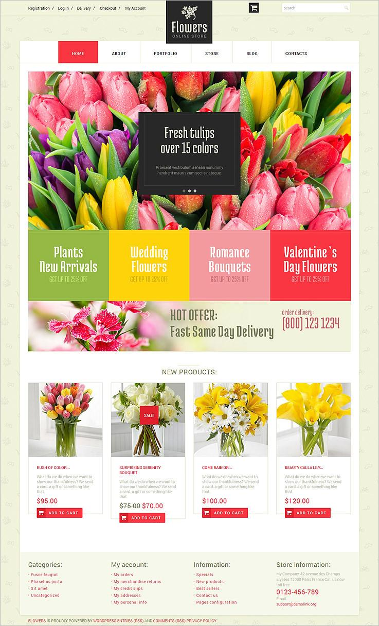 Flower Website Template Free Download
