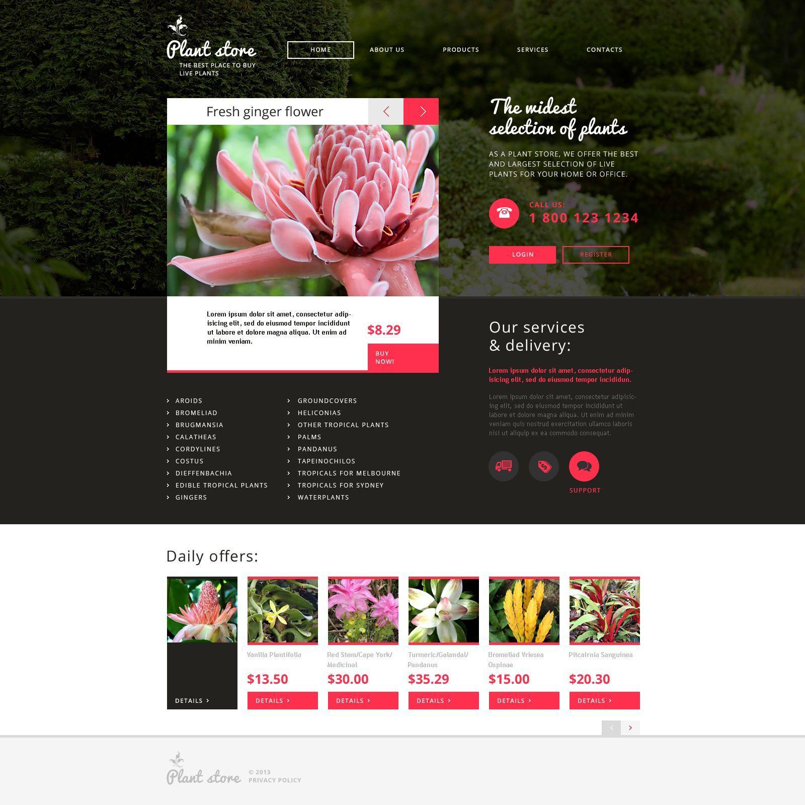Flower Website Template Free