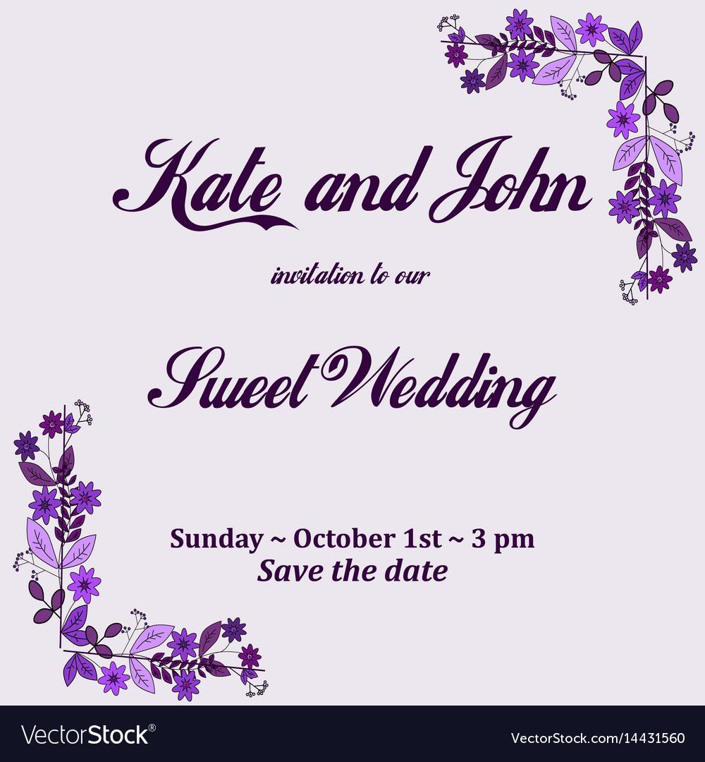 Flower Wedding Invitation Templates