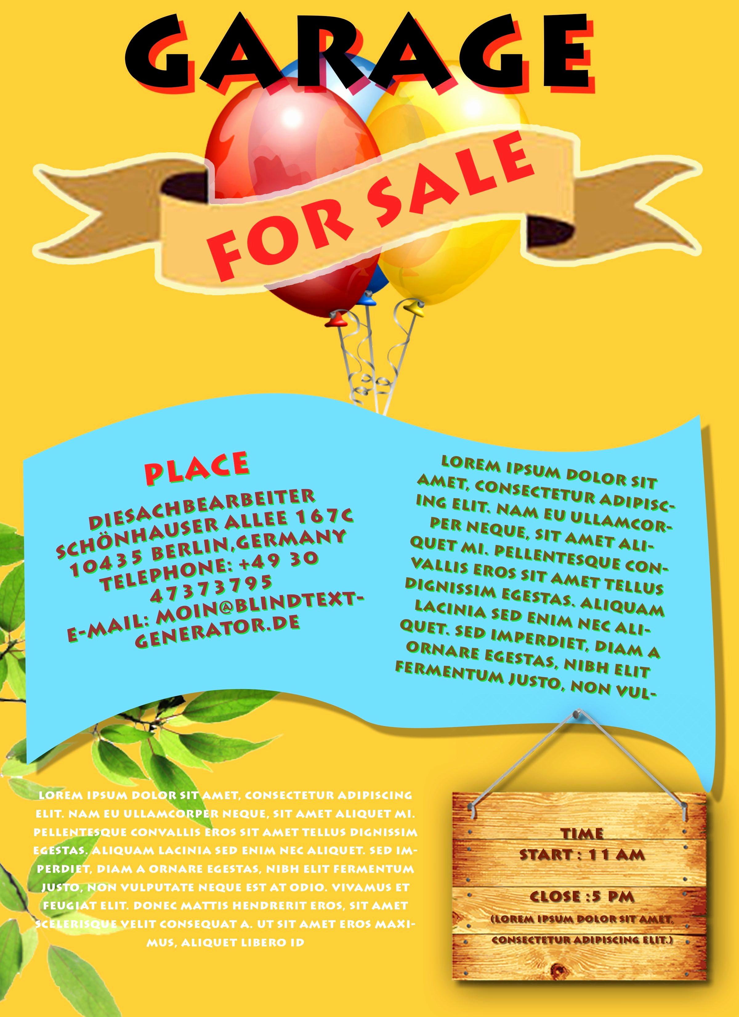 Flyer Template Free Online